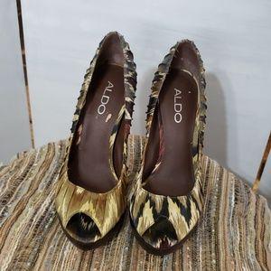 Aldo ladies multi colored heels